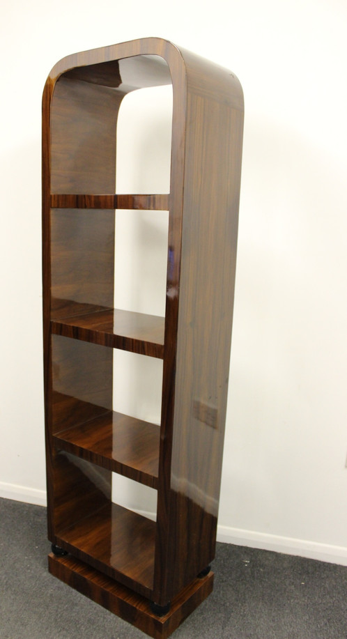 antique art deco style furniture bookcase in rosewood library shelf