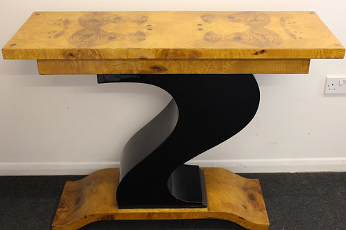ANTIQUE ART DECO STYLE FURNITURE WALNUT CONSOLE   HALL   HALLWAY TABLE C31