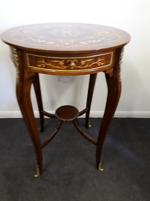 WOODEN INLAID OCCASIONAL TABLE - 509