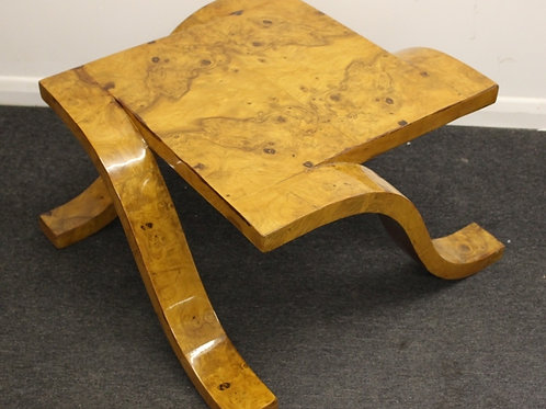 ANTIQUE ART DECO STYLE OCCASIONAL TABLE IN WALNUT - C14
