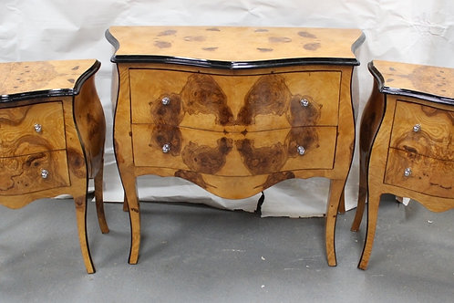 ANTIQUE FRENCH STYLE CHEST OF DRAWERS WITH MATCHING CABINETS - C4243