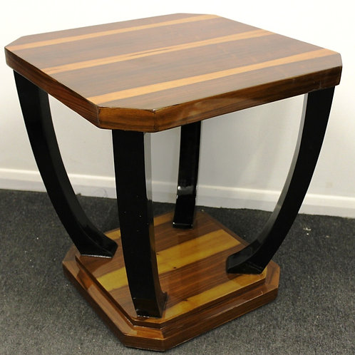 ANTIQUE ART DECO STYLE OCCASIONAL TABLE IN WALNUT - C217