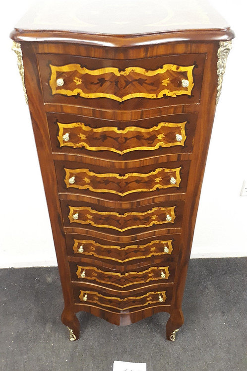 ANTIQUE FRENCH STYLE INLAID CHEST OF DRAWERS – WELLINGTON - 619