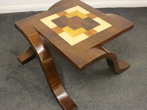 ANTIQUE ART DECO STYLE COFFEE | SIDE | DESIGNED TABLE | ROSEWOOD - C428