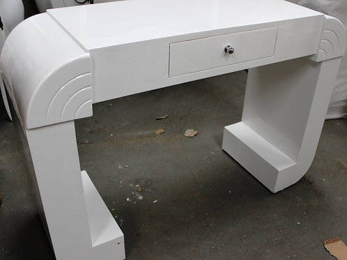 WHITE ANTIQUE ART DECO STYLE FURNITURE WALNUT CONSOLE | HALLWAY TABLE C212