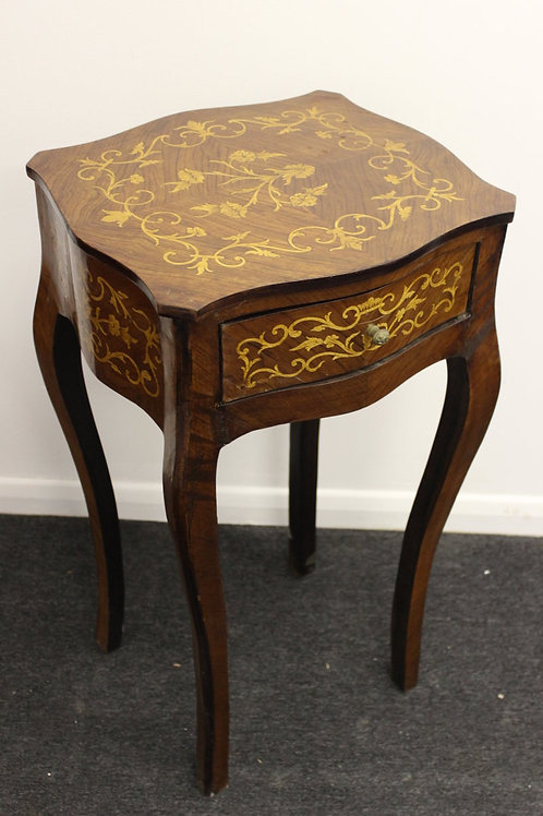 ANTIQUE FRENCH STYLE BEDSIDE TABLE - CABINET - C21