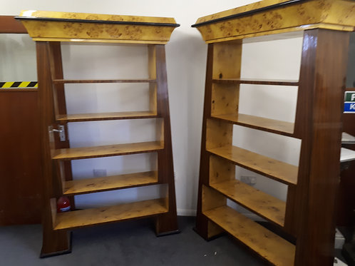 TWO LARGE BOOKSHELVES IN WALNUT AND ROSEWOOD - 559
