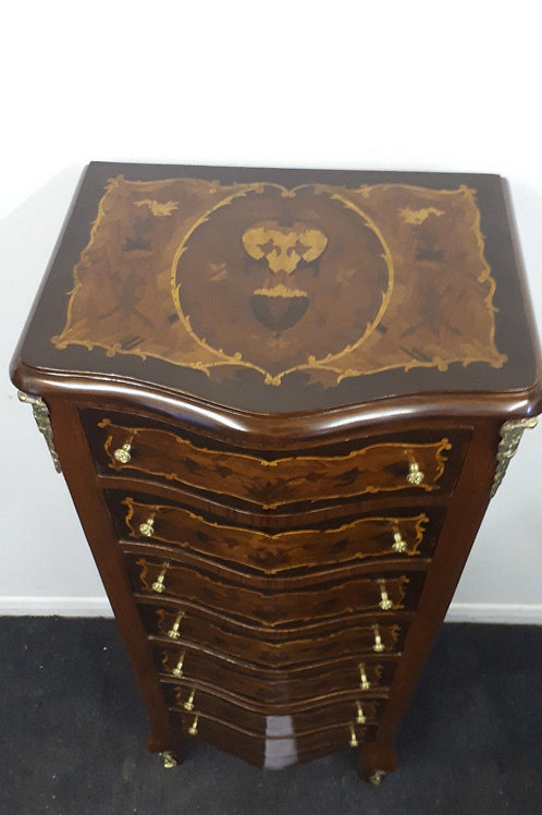 ANTIQUE FRENCH STYLE INLAID CHEST OF DRAWERS – WELLINGTON - 620