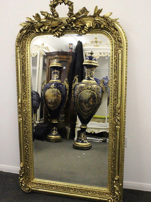 ANTIQUE FRENCH STYLE GOLD FRENCH MIRROR - C281