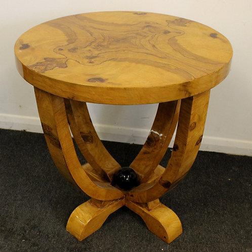 ART DECO STYLE WALNUT COFFEE TABLE - 634