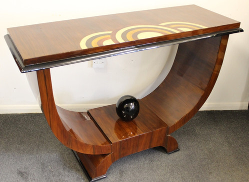 furniture art deco style. Art Deco Style Console Hall Table With Veneered Design On Top Furniture