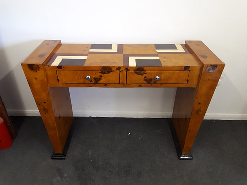 WOODEN INLAID CONSOLE TABLE WITH DRAWERS - 544