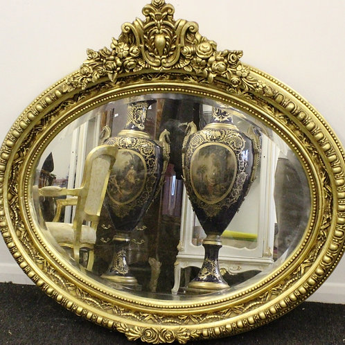 ANTIQUE FRENCH STYLE GOLD FRENCH MIRROR - C291