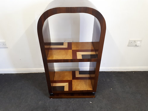 ART DECO STYLE INLAID ROSEWOOD BOOK SHELF - 568