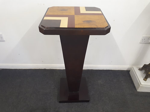 TALL SQUARE ROSEWOOD INLAID END TABLE - 554