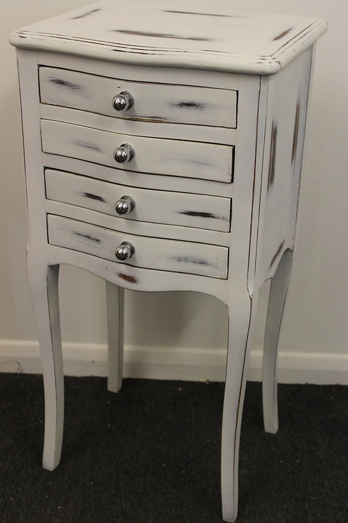SHABBY LOOK FURNITURE - BEDSIDE CABINET - CHEST OF DRAWERS - C257