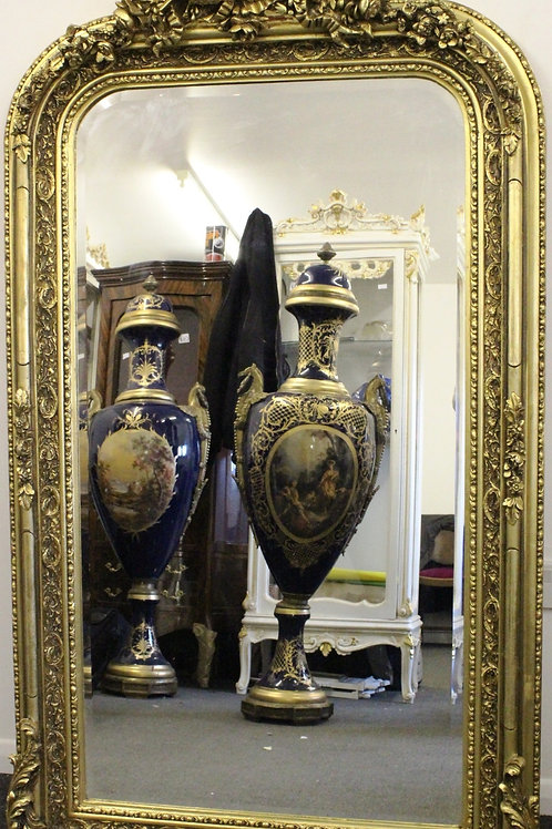 ANTIQUE FRENCH STYLE GOLD FRENCH MIRROR - C282