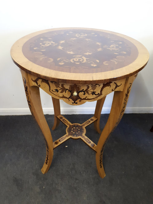 WOODEN INLAID OCCASIONAL TABLE - 524