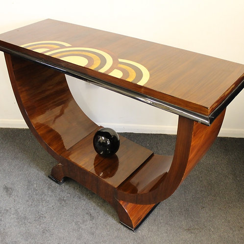 ANTIQUE ART DECO STYLE - CONSOLE HALL TABLE IN ROSEWOOD - HOME FURNITURE - C445