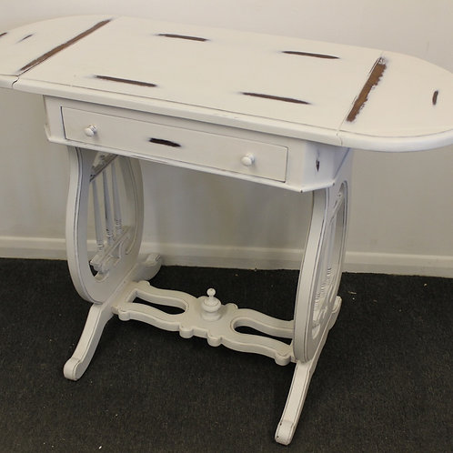 SHABBY STYLE COFFEE FOLDING TABLE WITH DRAWER - FURNITURE - C240