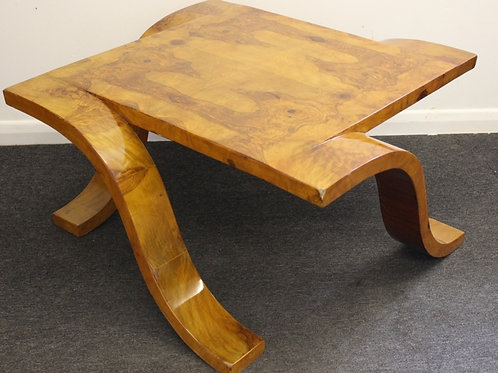 ANTIQUE ART DECO STYLE OCCASIONAL TABLE IN WALNUT - C4