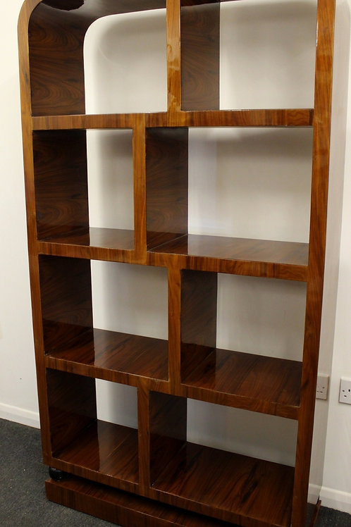 ANTIQUE ART DECO STYLE FURNITURE - BOOKCASE IN ROSEWOOD LIBRARY SHELF UNIT C214