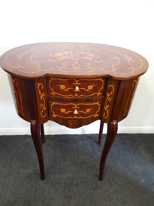 INLAID OCCASIONAL TABLE WITH 2 DRAWERS - 517