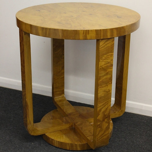 ART DECO STYLE FURNITURE - OCCASIONAL ROUND TABLE - IN WALNUT - C11
