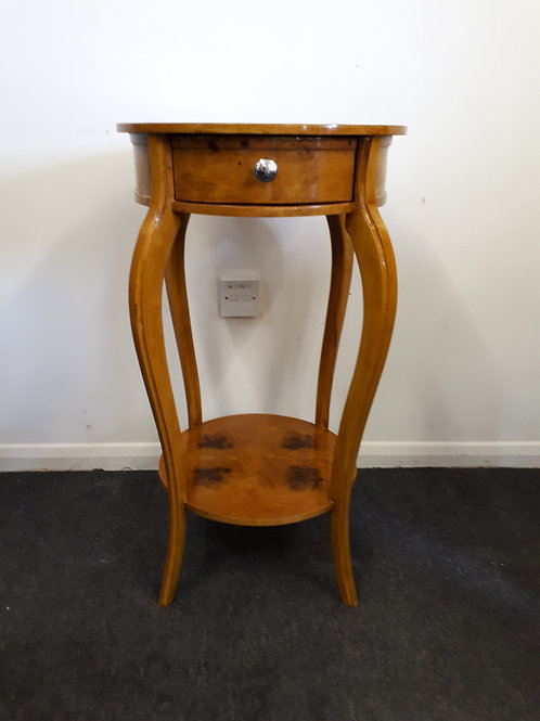 WOODEN INLAID OCCASIONAL TABLE WITH DRAWER - 510