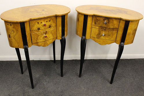 PAIR OF ANTIQUE FRENCH STYLE BEDSIDE CABINETS IN WALNUT - HOME FURNITURE - C411