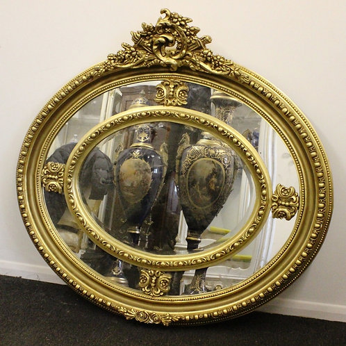 ANTIQUE FRENCH STYLE GOLD FRENCH MIRROR - C284