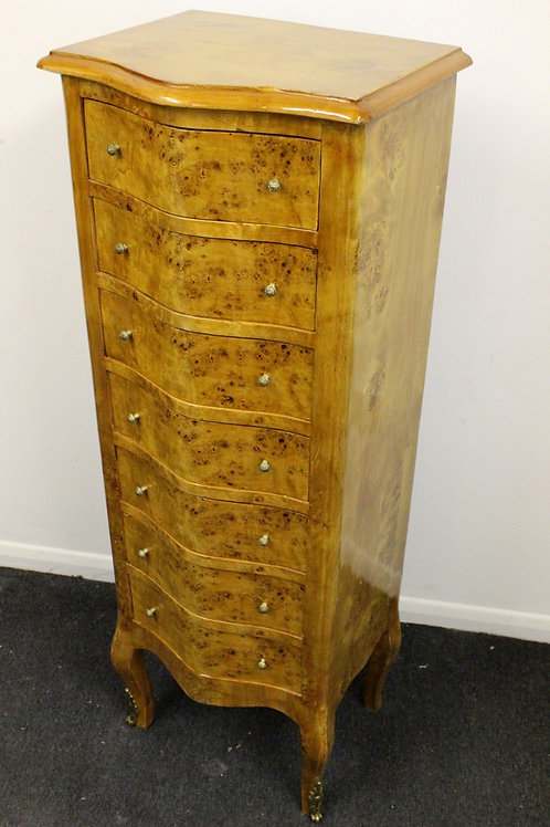 ANTIQUE FRENCH STYLE CHEST OF DRAWERS WELLINGTON - IN WALNUT - C267
