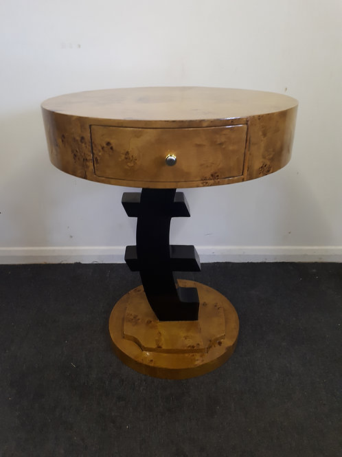 WOODEN OCCASIONAL TABLE WITH DRAWER AND INTERESTING LEG DESIGN - 547
