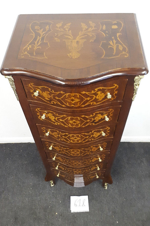 ANTIQUE FRENCH STYLE INLAID CHEST OF DRAWERS – WELLINGTON - 618