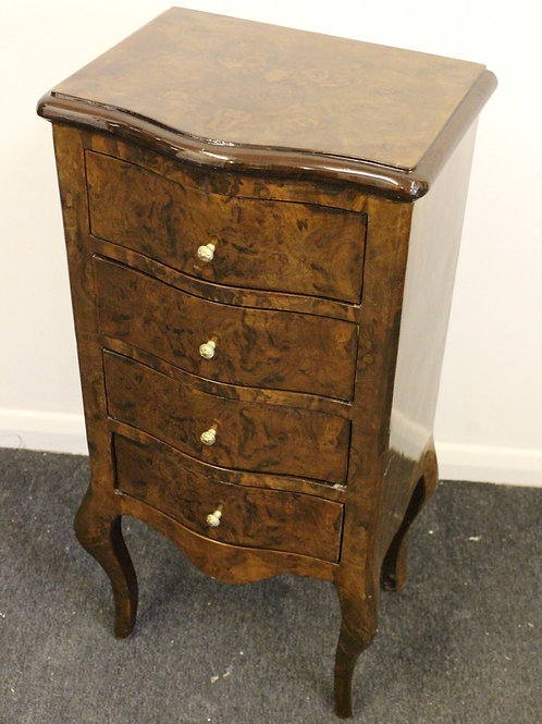 ANTIQUE FRENCH STYLE FURNITURE - BEDSIDE CABINET WITH 4 DRAWERS - C272