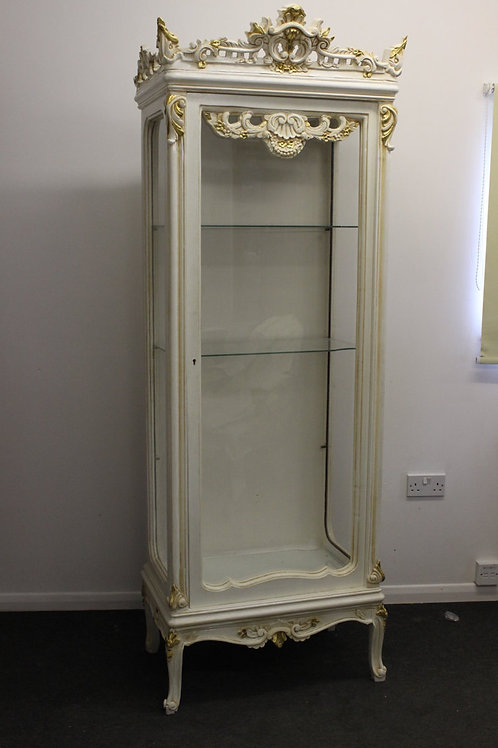 ANTIQUE FRENCH STYLE FURNITURE - WHITE CABINET - MAHOGANY - C57