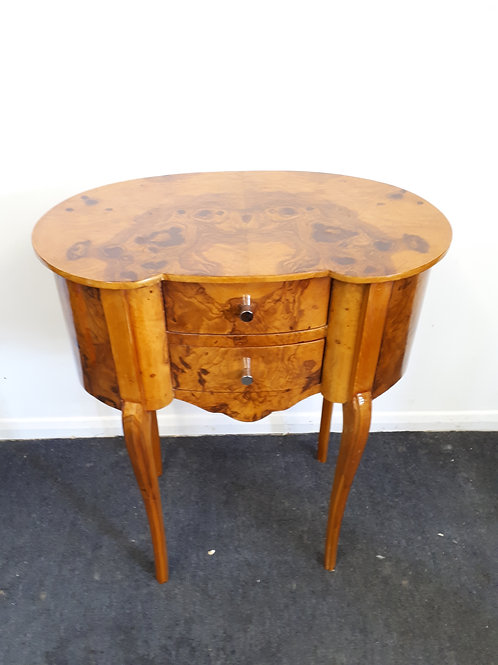 WALNUT OCCASIONAL TABLE WITH DRAWERS - 533
