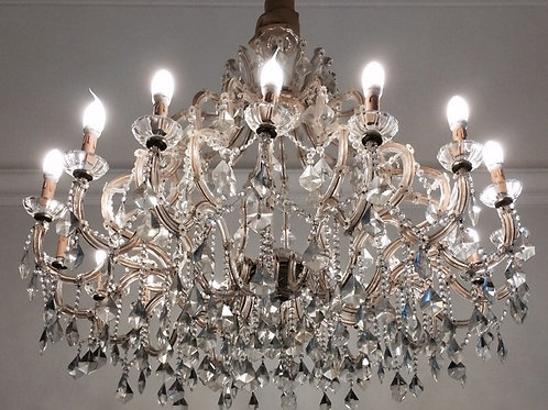 ANTIQUES FRENCH STYLE CLEAR GLASS CHANDELIER - MARIE ANTOINETTE - 16 LIGHTS C64