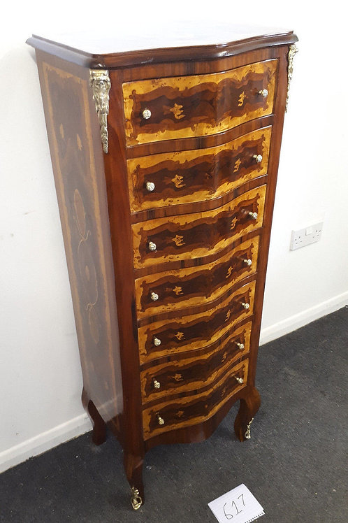 ANTIQUE FRENCH STYLE INLAID CHEST OF DRAWERS – WELLINGTON - 617