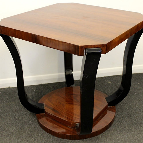 ART DECO STYLE FURNITURE - OCCASIONAL ROUND TABLE - IN ROSEWOOD - C227