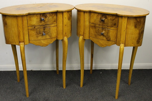 PAIR OF ANTIQUE FRENCH STYLE BEDSIDE CABINETS IN WALNUT - HOME FURNITURE - 533