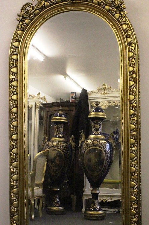 ANTIQUE FRENCH STYLE GOLD FRENCH MIRROR - C288