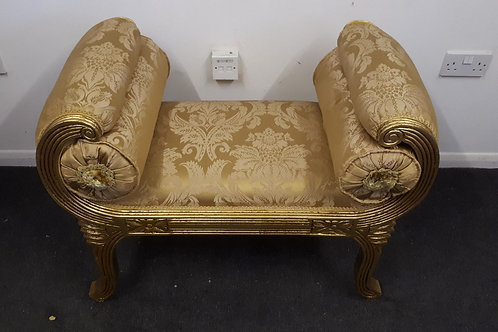FRENCH STYLE GILDED STOOL - 609