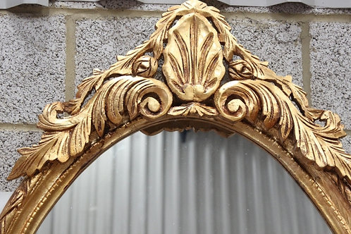 ANTIQUE FRENCH STYLE GOLD OVAL FRENCH MIRROR - C98