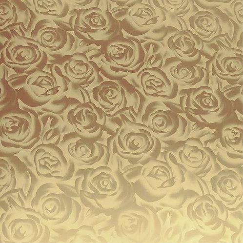 Gold Roses DecoFilm Soft Metallic Heat Transfer Vinyl HTV Cricut Silhouette