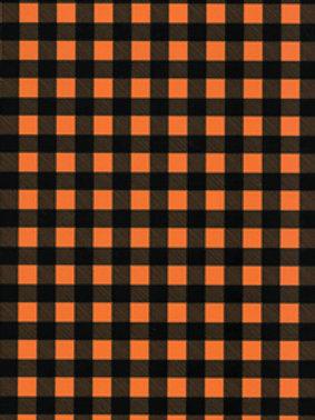 Orange and Black Plaid - Thermoflex Fashion Patter