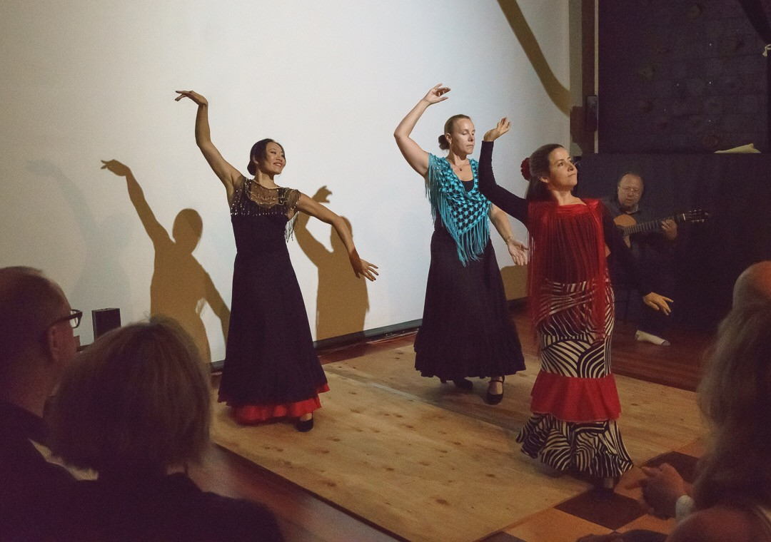 Flamenco dancers at The Barn Show