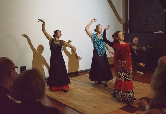 Flamenco dancers at The Barn Show