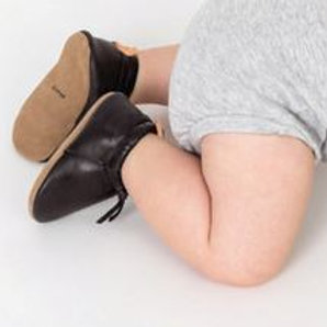 Moccasins Black Baby Shoes