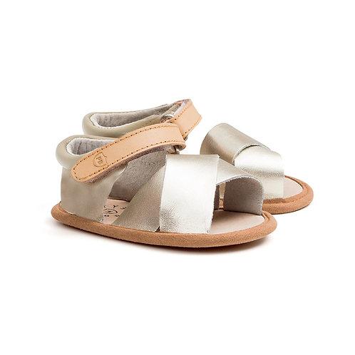 Pretty Brave - Valencia Gold Baby Shoes